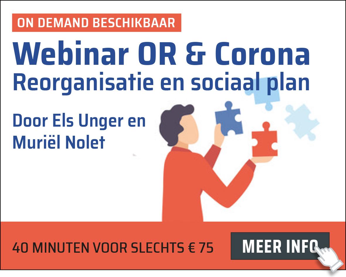 OR & Corona: reorganisatie en sociaal plan